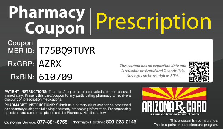 Arizona Rx Card - Free Prescription Drug Coupon Card